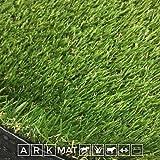 ARKMat Oaks Erba Sintetica Altezza 3cm Misura 4 x 3 Metri Doppio Colore Effetto Reale Drenante e Resistente Raggi UV