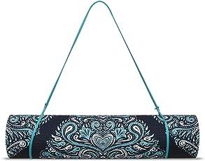 Trideer Extra Dicke Yogamatte, Umkehrbare Premium Bedruckte Rutschfeste Risssichere 6mm Fußboden Pilates Gymnastikmatte für Yoga, Workout, Fitness mit Trageband