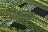 Luxor Living Design Teppich mit Blätter-Print | In- & Outdoor | Dschungel Style, Größe:80 x 150 cm, Farbe:Schwarz-Grün Kubana Vergleich