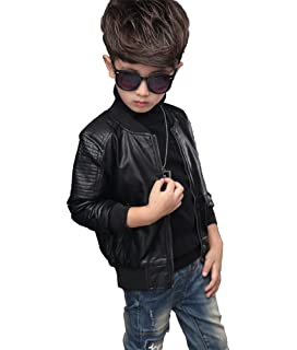 Baby Boys Active PU Leather Jackets