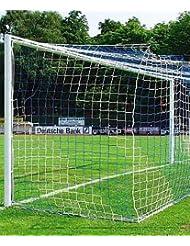 1 Paar zweifarbige Tornetze für große Fußballtore (7,32 x 2,44m), Kastenform, 4mm Fadenstärke, 12cm Maschenweite