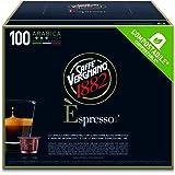 Caffè Vergnano 1882 Èspresso Capsule Compostabili Caffè Arabica, Compatibili Nespresso e con le macchine èspresso1882 trè, Pa