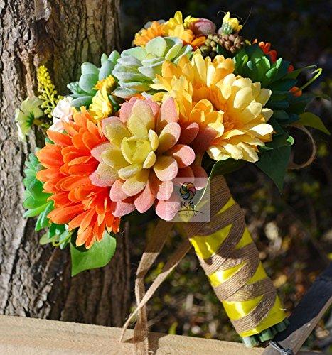 Yxhflo Emulation Blume Blumen Hochzeit Kunst Brautsträuße, Sukkulenten Summe Der Weiblichen Idyllischen Graue Pappteller Und Servietten