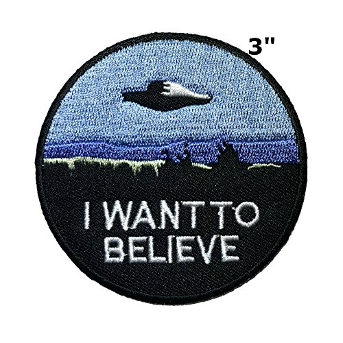 Applikation X-Files NASA Space Program Classic I Wanna Believe Cosplay Abzeichen bestickt Aufnäher Aufbügler