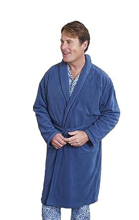 Mens Champion Lightweight Thermal Micro Fleece Bath Robe Dressing ...