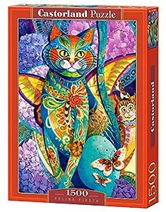 Castorland Feline Fiesta 1500 pcs Puzzle - Rompecabezas (Puzzle Rompecabezas, Arte, Niños y Adultos, Gato, Niño/niña, 9 año(s))