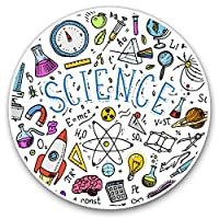 Awesome Vinyl Stickers (Set of 2) 7.5cm - Science Physics Chemistry Biology Fun Decals for Laptops,Tablets,Luggage,Scrap Booking,Fridges,Cool Gift #14850
