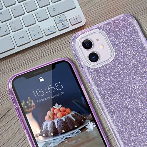 MATEPROX Funda iPhone 11Glitter Estuche Brillante Antideslizante