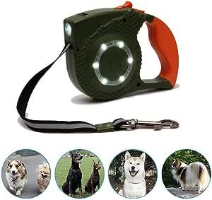Katzen-Hundezubeh/ör,Blackpanther Mit Lock /& Release-Mechanismus CQLXZ Einziehbare Hundeleine Leuchtende Haustier-Hundeleine Laufleine LED-Lichtgurt Mit Einziehbarem Halsband