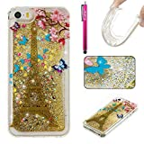 iPhone 5C Hülle, Firefish Glitter Liquid Cover Slim Weiche TPU Gummi Silikon Fall Impact Resistant Durable Schutzhülle für Apple iPhone 5C
