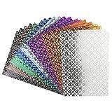 Effekt-Papier, Rosen-Design, metallic, DIN A4, 128g/m², 20 Blatt | Bastelpapier, Glitzerpapier | für Grußkarten, Scrapbooking, DIY, Karten, Basteln, Dekoration