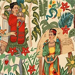 Tissu Alexander Henry avec Frida et un jardin mexicain