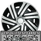 (Größe und Farbe wählbar) Radzierblenden 15 Zoll – CYRKON (Schwarz-Silber) passend für fast alle Fahrzeugtypen (universell)!