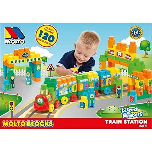 Molto Blocks - Tren, 120 piezas (MOLTO 16471)