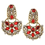 Fine Jewellers Golden Earrings with Crys...