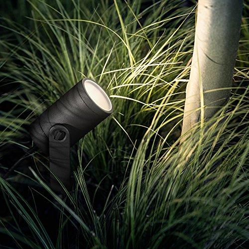 Philips Hue 3er Base Kit LED-Spot Lily Schwarz inkl. Stecker und Hue White Color Ambiance   Hue-Gartenleuchte, Spot-Leuchte