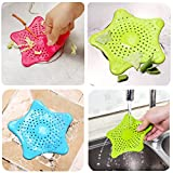 Texsens Kitchen Sink Strainer Bathroom Filtration Drain Cover Hair Trap Stopper & Collector (Set of 3)