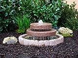 Seliger Gartenbrunnen Frosti Mini-Kaskadenbrunnen Werksandstein rötlich-braun