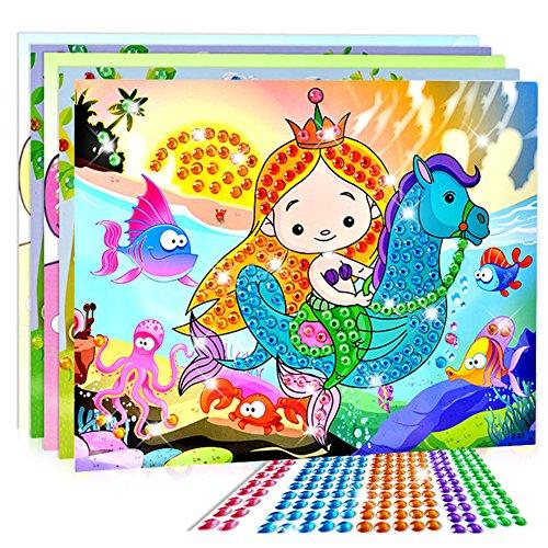 Stück Kristall-Mosaik-Sticker 3D Kreative Kunst Aufkleber Intelligente Entwicklung Spielzeug Halloween Taschen für Kinder zufällige Lieferung ()
