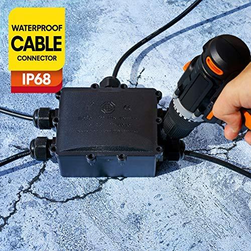 Verteilerdose Abzweigdose IP68 Wasserdichte Kabelverbinder Klemmdose für Aussen 5-Wege