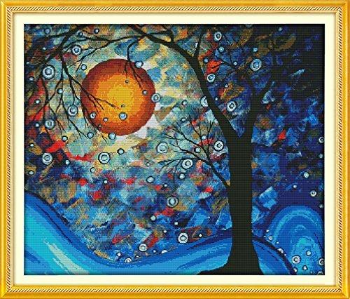 Das Fantasy Tree of Dreams Gedruckt Leinwand DMC Gezählt chinesischen Kreuzstich Kits Gedruckt Kreuzstich Set Stickerei Naht 11CT Stamped -