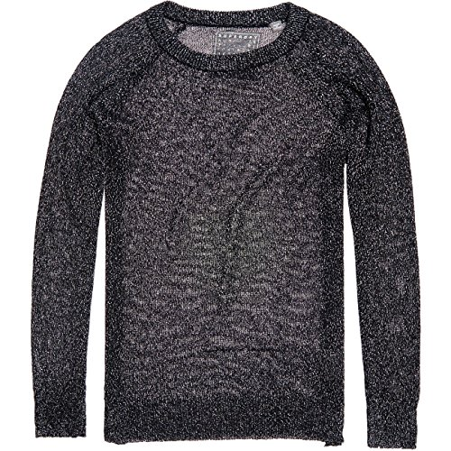 Superdry Damen Strick METALLIC SPARKLE KNIT , Größe:XS, Farben:black (Sparkle Metallic-pullover)