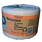 Recycled 100 Tie Handle Tall Kitchen Bin Liners