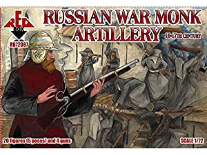 Red Box 1/72 Rusa artillería Monje Guerra, 16-17 de Siglo # 72087 - Figuras Modelo de plástico
