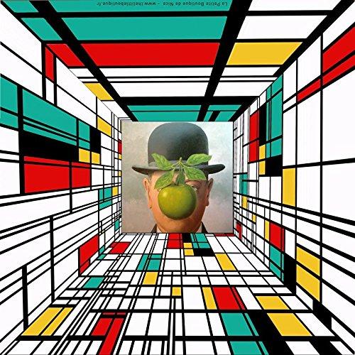 Stampa su tela, Mondrian Vs Magritte 2, 70 x 70 cm