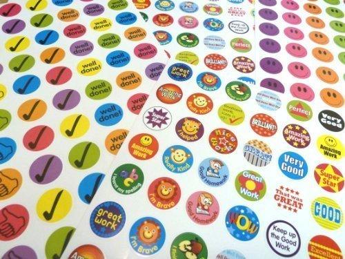 280 Kinder mit Belohungsaufklebern Motivation für Kinder, Lehrer, Merit/Praise Etiketten A