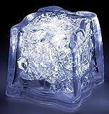 Lunartec Leuchteiswürfel: LED-Leucht-Eiswürfel, weiß, inklusive Batterien (LED Deko Eiswürfel)
