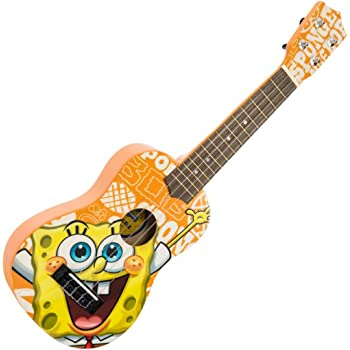 Spongebob Squarepants Soprano Ukulele In Yellow With 4 Nylon Strings
