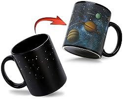 Color Changing Mugs -Magic Solar System Heat Sensitive Cute Coffee Cup - 12 oz Ceramic Tea Mug - Perfect Novelty Gift/Birthda
