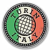 2 x 20cm/200 mm Turin Turin Italie Autocollant de fenêtre en verre Voiture Van Locations #9840