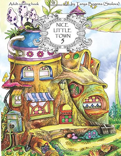 Produktbild Nice Little Town: Adult Coloring Book (Stress Relieving Coloring Pages, Coloring Book for Relaxation)