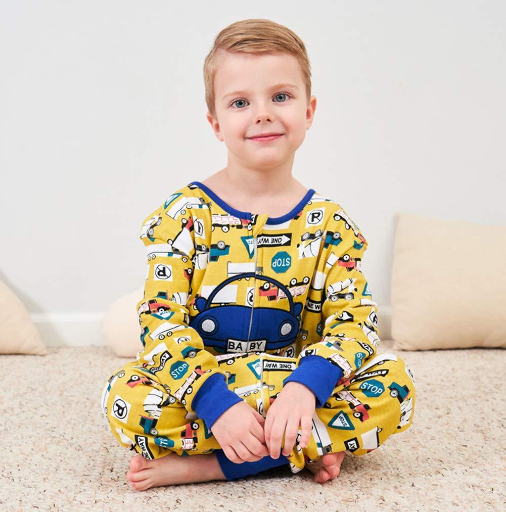 Coralup – Saco de dormir para niños, 100% algodón, con diseño de pingüino de dinosaurio (colorido, 0-8 años)