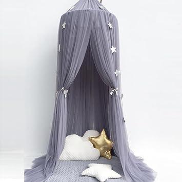 Bett Vorhänge Kinderzimmer Dekoration Mädchen Prinzessin Bett Baldachin  Zelt Baby Krippen Volant Runden Moskitonetz 1 Stück