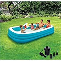 PRATHAM SALES Swimming Pool Bath Tubs for Adults Spa Swimming Bath Tub 10 Feet for Kids and Adult (with Electric Pump)