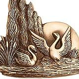 AmazinGrave - Dekorative Ornamenten Verschiedene, Grabdekorationen für Grabsteine Anwendung - Ornament für Grabstein 7x18cm - Grabschmuck Messing 3171 - 2