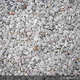 Steinteppich Marmorkies für 2qm | BEKATEQ BK-600EP Bodenbelag Bodenbeschichtung (25KG Marmorkies + 1,5KG Bindemittel, Weiss - Bianco Carrara)