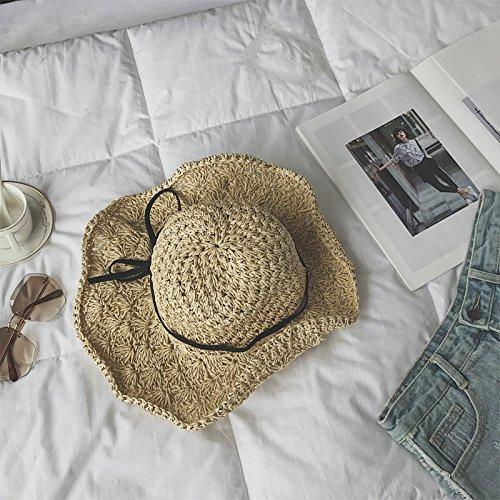 Olici Damenmode Handtaschen Ferien - Hut Handarbeit Sonnencreme - Hut Kopfbedeckung Fischer Strand Strohhut Papier Strohhut