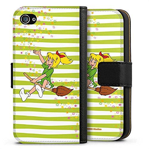 Apple iPhone X Silikon Hülle Case Schutzhülle Bibi Blocksberg Fanartikel Merchandise Bibi und Kartoffelbrei Sideflip Tasche schwarz