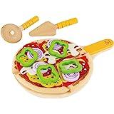 Hape E3129 – pizzaset, tillbehör till barnkök och köpbutik