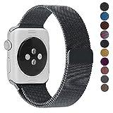 Per Cinturino Apple Watch 42mm, Apple Watch Cinturini 38mm 42mm Acciaio Inossidabile con Chiusura Magnetica Regolabile Bracciale per iWatch Apple Watch Series 3 2 1