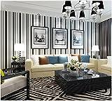 Yosot Modern Gestreifte Vliestapeten Wohnzimmer Schlafzimmer Hintergrund Restaurant Tapeten Schwarze Und Weiße Streifen