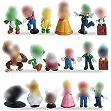 Miotlsy Super Mario Figures 18pcs / Set Super Mario Toys Figuras de Mario y Luigi Figuras de acción de Yoshi y Mario Bros Fig