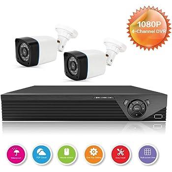 Anni caméras CCTV système de canaux 1080p DVR enregistreur de kit, avec 2X 720p en/extérieur Bullet caméra, 25m Vision de Nuit, Tous Les Temps des systèmes de caméra de sécurité à Domicile