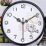 ZGSR-F Wanduhr Schlafzimmer Wohnzimmer Büro Silent Uhr Quarzuhr 30CM