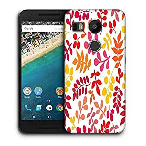 Snoogg Colorful Leaves Designer Protective Phone Back Case Cover For LG Nexus 5X
