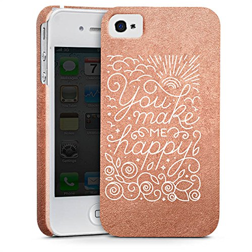 Apple iPhone X Silikon Hülle Case Schutzhülle Sprüche Love Happy Premium Case glänzend
